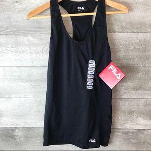FILA black stretch athletic tank top